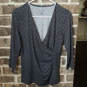 Talbots Petites Size SP Over Wrap Front Top